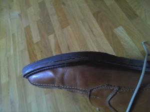 Schuh abgeloeste Sohle